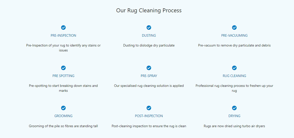 Our Professional Rug Cleaning Process